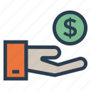 business, dollar, finance, income, investment, money, profit icon