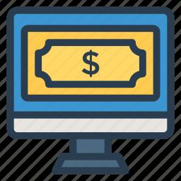finance, money, onlinebillpay, onlineshopping, payment, shopping, web icon