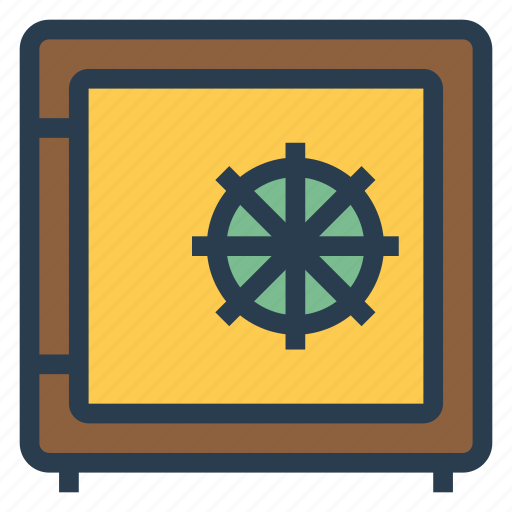 banksafe, lock, protection, safe, safety, secure, security icon
