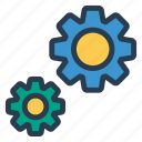 configuration, gear, help, options, preferences, set, settings icon