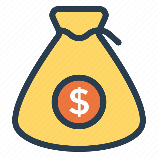 cash, coins, currency, finance, money, moneybag, shopping icon