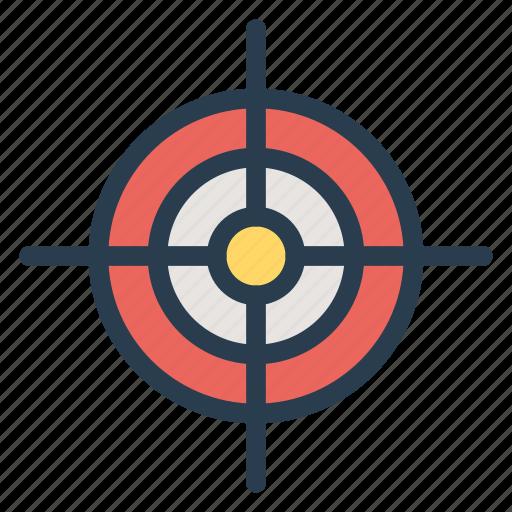 aim, arrow, bullseye, focus, goal, marketing, target icon