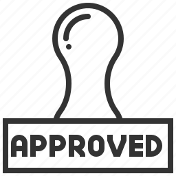 accept, approve, approved, confirm, stamp icon