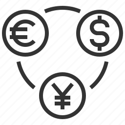 bank, coin, currency, dollar, euro, exchance, sign icon