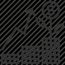 analytics, business, graph, growth, investing, money, statistics icon