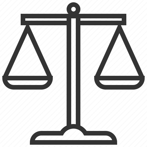 balance, business, judge, law, lawyer, scales icon