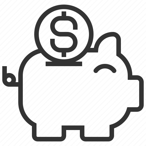 bank, coin, credit, currency, dollar, financial, piggy icon