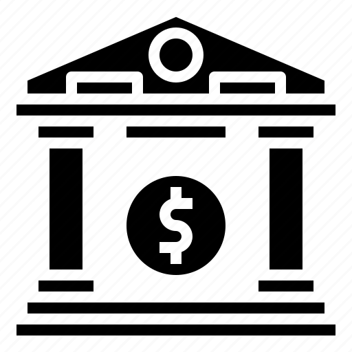 bank, banking, building, business, finance, money, savings icon