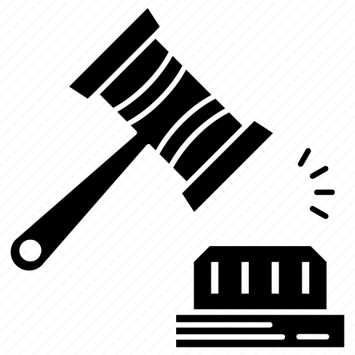 Crime, gavel, justice, hammer icon - Download on Iconfinder