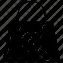 bag, glass, magnifier, online, portfolio icon