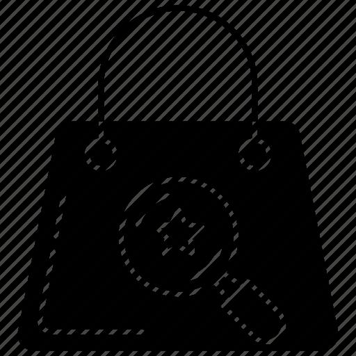 Bag, portfolio, glass, magnifier, online icon - Download on Iconfinder