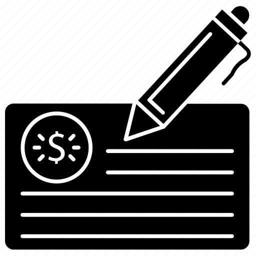 bank, cheque, discount, financial, report, ticket icon