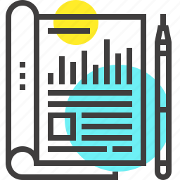 account, chart, data, document, file, invoice, report icon