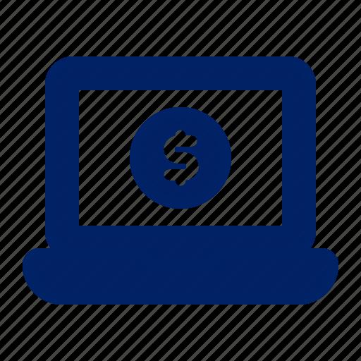 banking, business, finance, internet banking, laptop, money, online banking icon