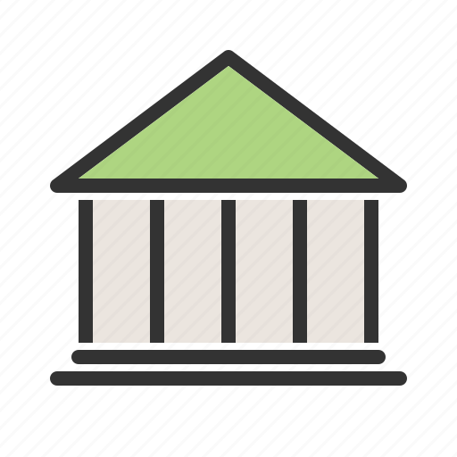 bank, banking, building, economy, financial. cash, institute, money icon