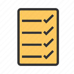 bulleted list, check, checklist, items, list, numbered list, tasks icon