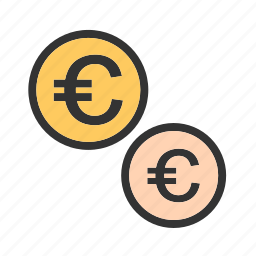 cash, coins, currency, emolument, euro, monetary resource, money icon