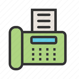 data, equipment, fax machine, information, machine, send, transfer icon