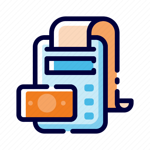 Accounting, banking, business, calculator, finance, money, receipt icon - Download on Iconfinder