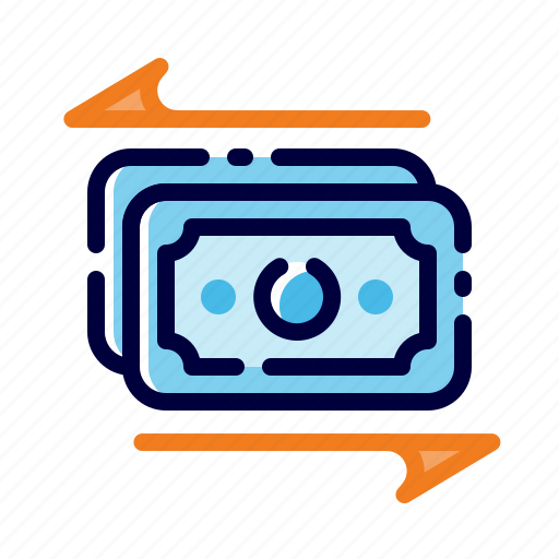 banking, business, finance, flow, money, money transaction, money transfer icon