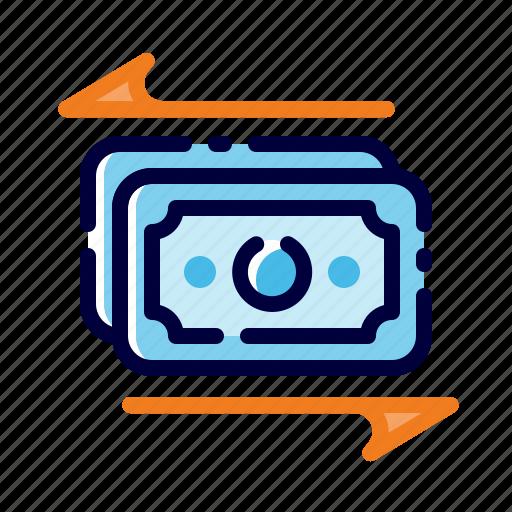Banking, business, finance, flow, money, money transaction, money transfer icon - Download on Iconfinder