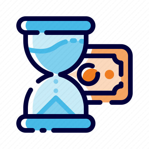 Banking, business, finance, hourglass, money, savings, timer icon - Download on Iconfinder