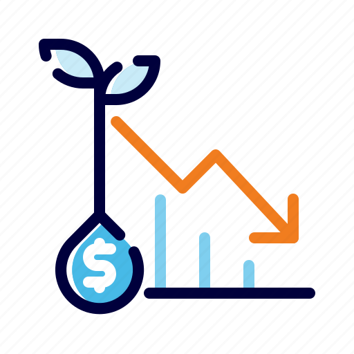 Analytics, banking, business, decrease, finance, loss, money icon - Download on Iconfinder