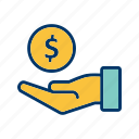 cashout, debt, loan, tax icon