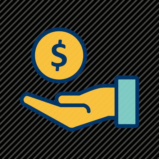 banking, cashout, debt, loan, money icon