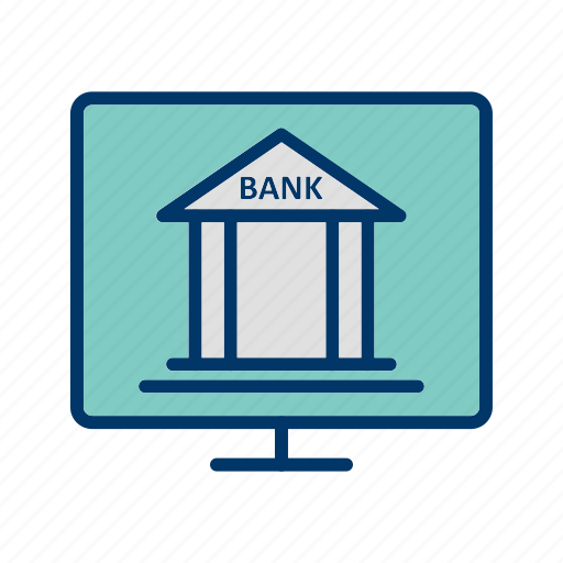 banking, internet, online, service icon