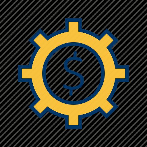 business, cog, wheel icon