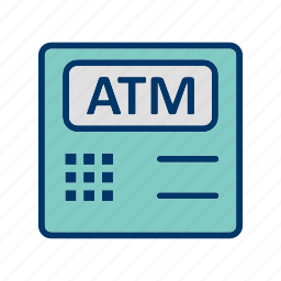 atm, atm machine, bank, cashout icon