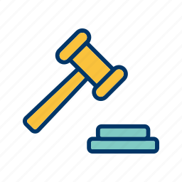 auction, justice, law icon