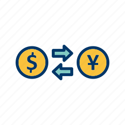 currency, exchange, exchange rate, foreign exchange icon