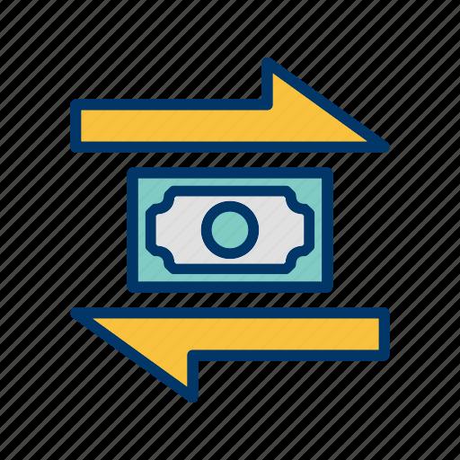 banking, exchange, finance, money, transaction icon