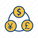 banking, currency, finance, flow, money icon