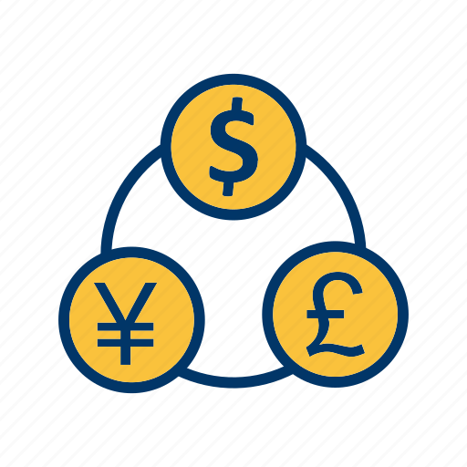 currency, flow, money icon
