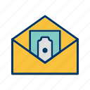 money envelope, money order, sending money icon