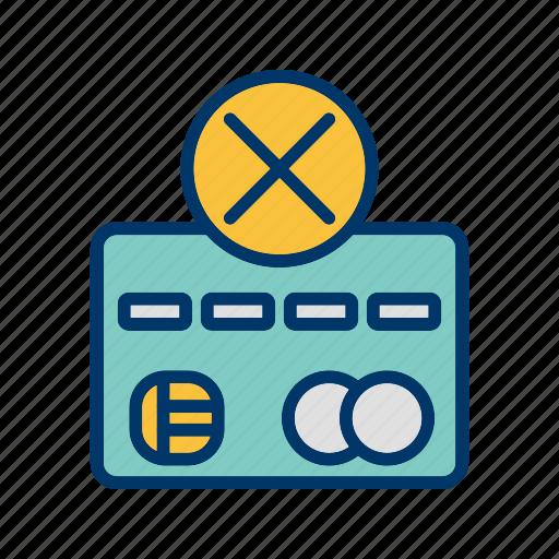 failure, payment, sending failure, transaction icon