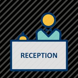 administrative, counter, desk, reception icon