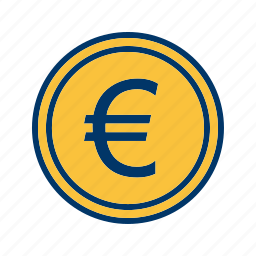 coin, currency, euro, money icon