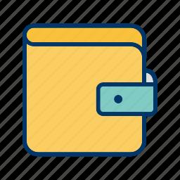 cash, diary, money, wallet icon