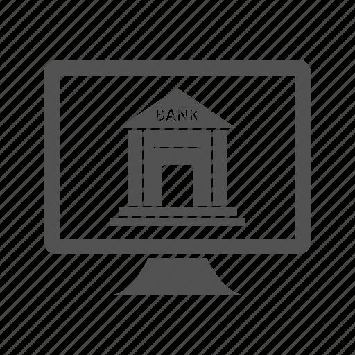 banking, internet, online, service icon