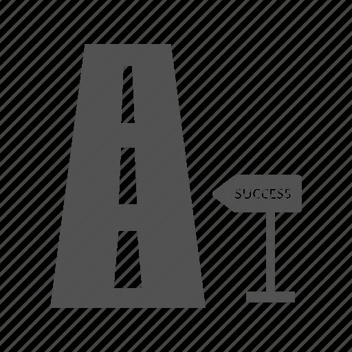 milestone, road, road to success icon