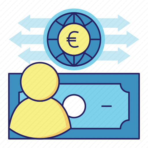 acountant, audit, banking, cash flow, euro, finance, money icon