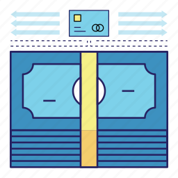 acountant, banking, cash, credit card, finance, invest, money icon