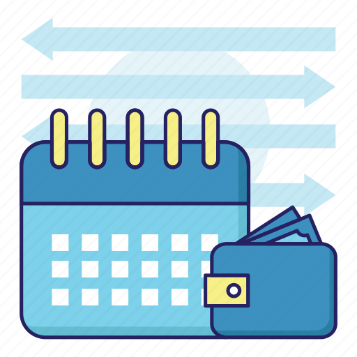 acountant, banking, calendar, finance, investation, money, wallet icon