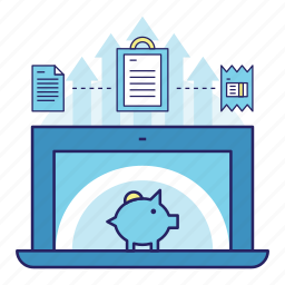 acountant, banking, connected, finance, invest, money, profit icon