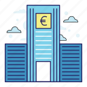 acountant, bank, banking, euro, finance, illustration, money icon