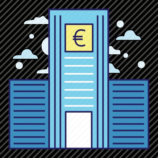 acountant, bank, banking, euro, finance, illustration, money icon